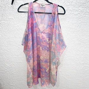 show me your mumu swim coverup tunic floral  sz M